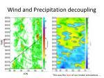 wind and precipitation decoupling