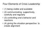 four elements of crisis leadership