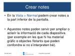 crear notes