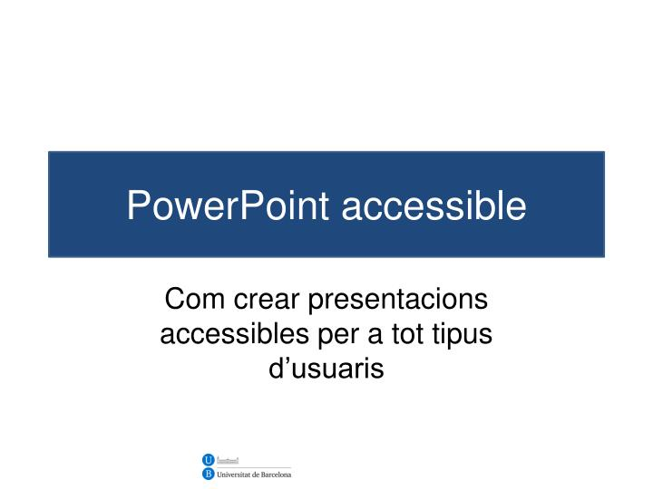 powerpoint accessible n.