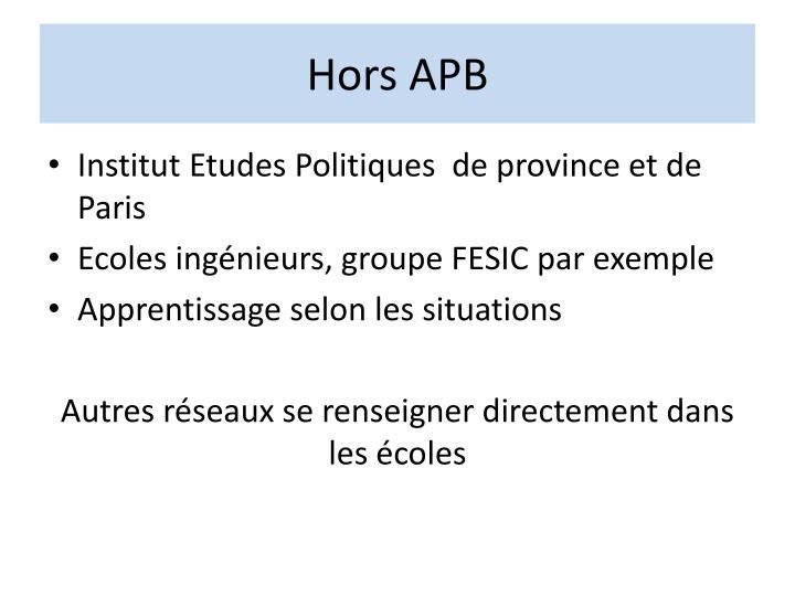 Hors APB