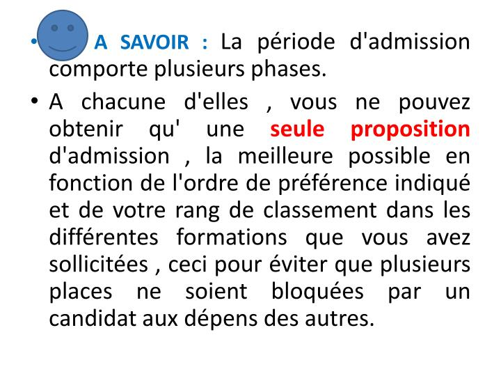 A SAVOIR :