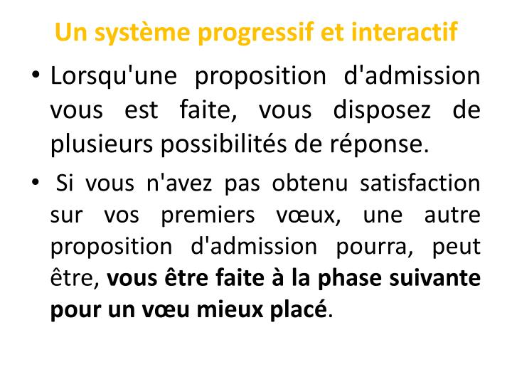 Un système progressif et interactif
