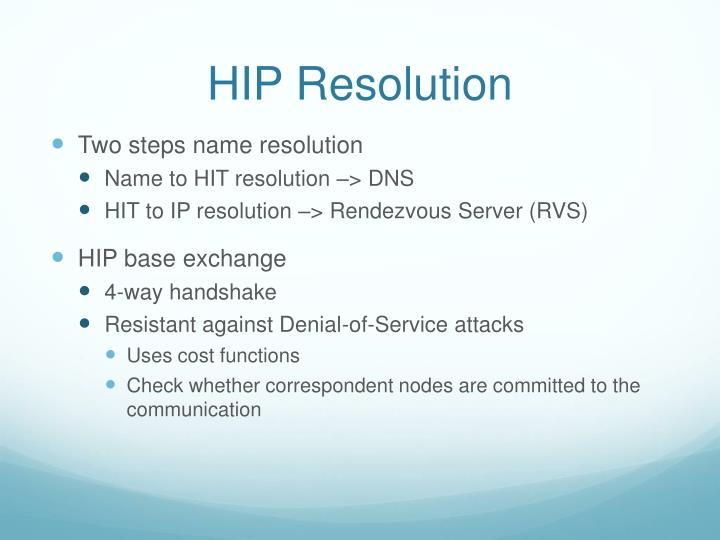 HIP Resolution
