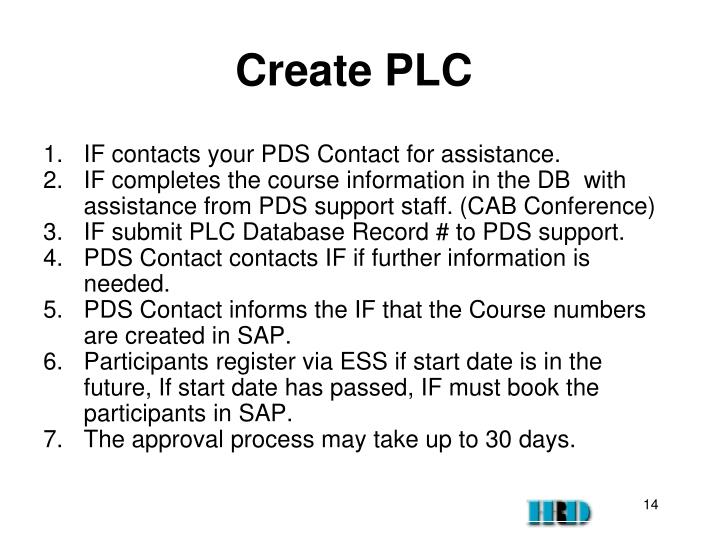 Create PLC