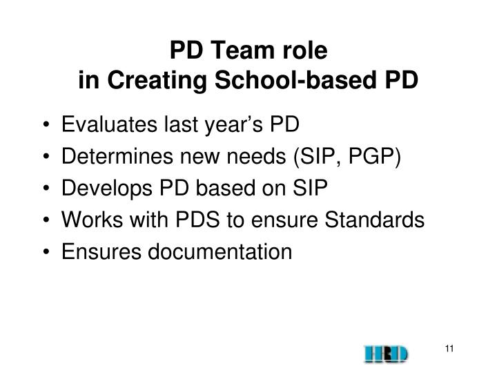 PD Team role