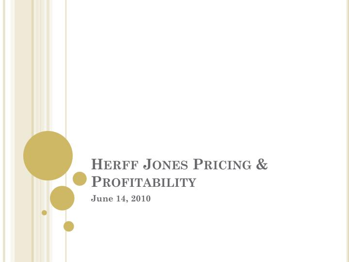 herff jones pricing profitability n.