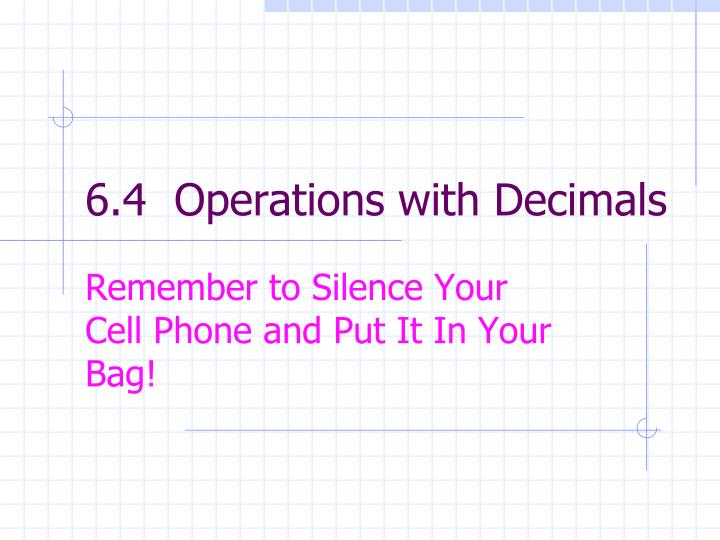 6 4 operations with decimals n.