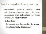 event based architectures cont