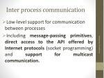 inter process communication