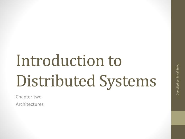 introduction to distributed systems n.