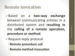 remote invocation