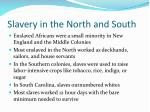 slavery in the north and south