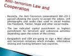 anti terrorism law and cooperation