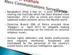 cases for example mass communications surveillance