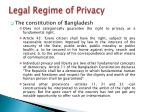 legal regime of privacy