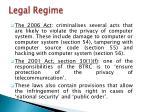 legal regime