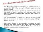 mass communications surveillance