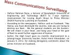 mass communications surveillance1