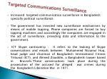 targeted communications surveillance