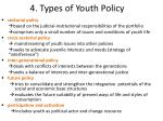 4 types of youth policy