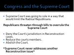 congress and the supreme court