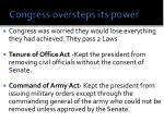 congress oversteps its power