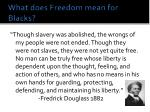 what does freedom mean for blacks