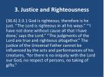3 justice and righteousness