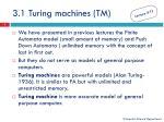 3 1 turing machines tm