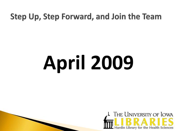 Step up step forward and join the team