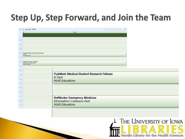 Step Up, Step Forward, and Join the Team