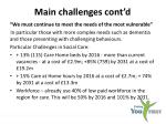 main challenges cont d1