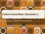 culture assimilator stimulator 1