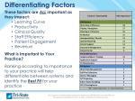 differentiating factors