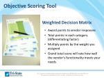 objective scoring tool