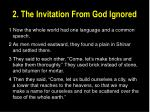 2 the invitation from god ignored