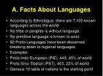 a facts about languages