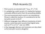 pitch accents 1