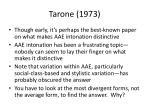 tarone 1973