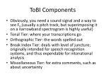 tobi components