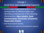 charge 1 build your own leadership capacity