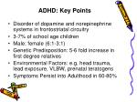 adhd key points