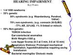 hearing impairment key points