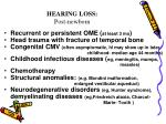 hearing loss post newborn