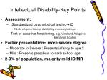 intellectual disability key points
