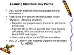 learning disorders key points