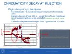 chromaticity decay at injection