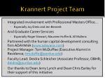 krannert project team