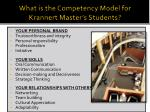 what is the competency model for krannert master s students